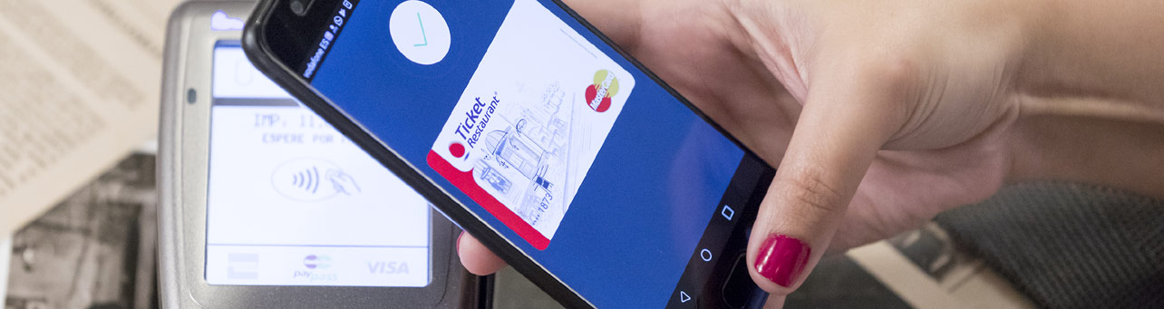 Ticket Restaurant con Android Pay