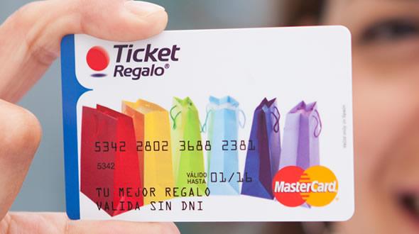 tarjeta ticket regalo