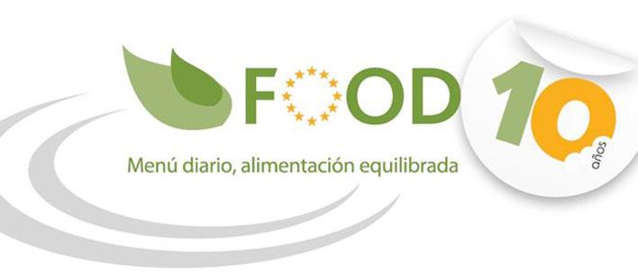 Logo 10 años programa FOOD